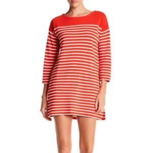 Jcrew orange long sleeves dress